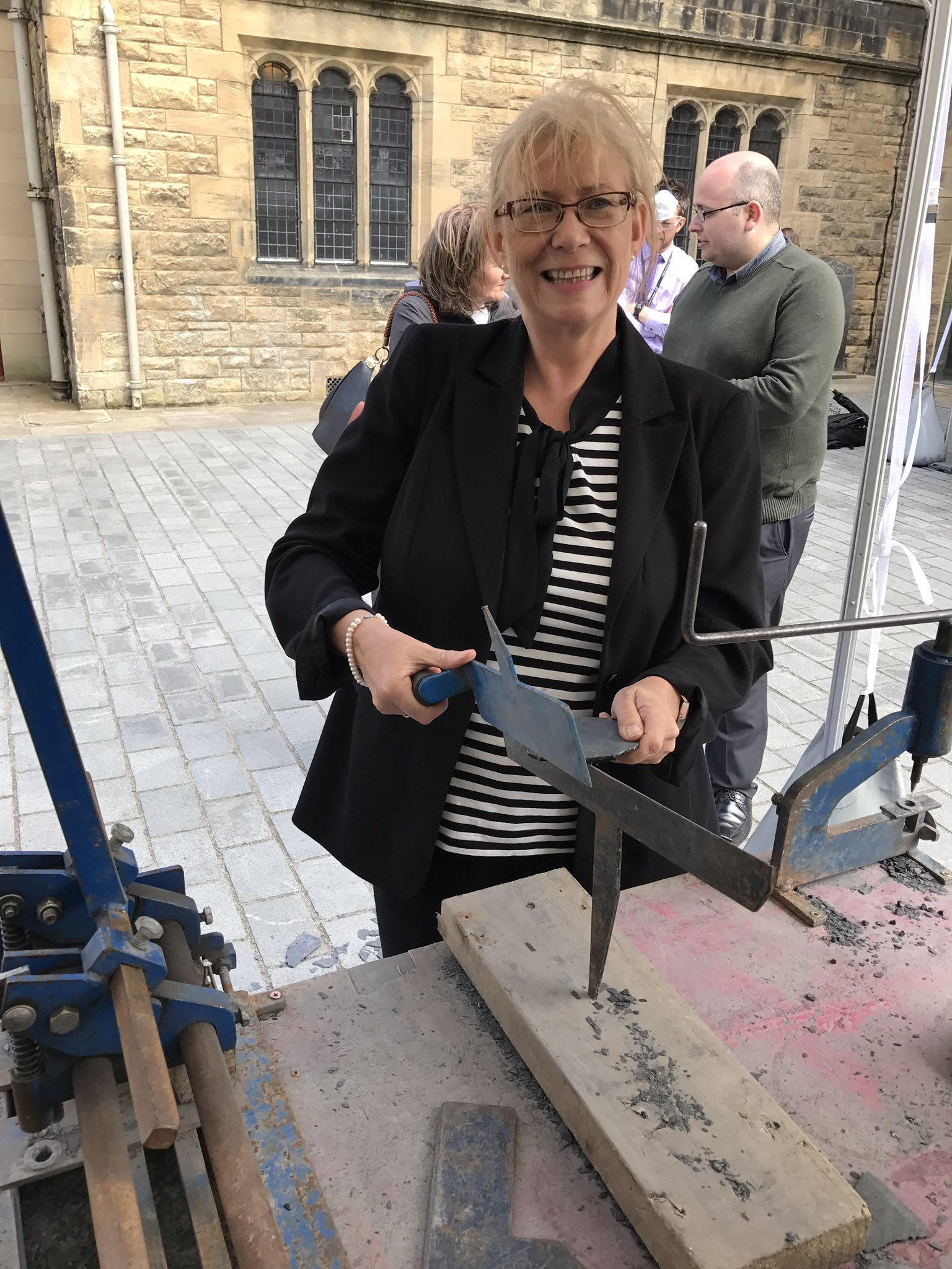 Elaine Smith MSP roofing